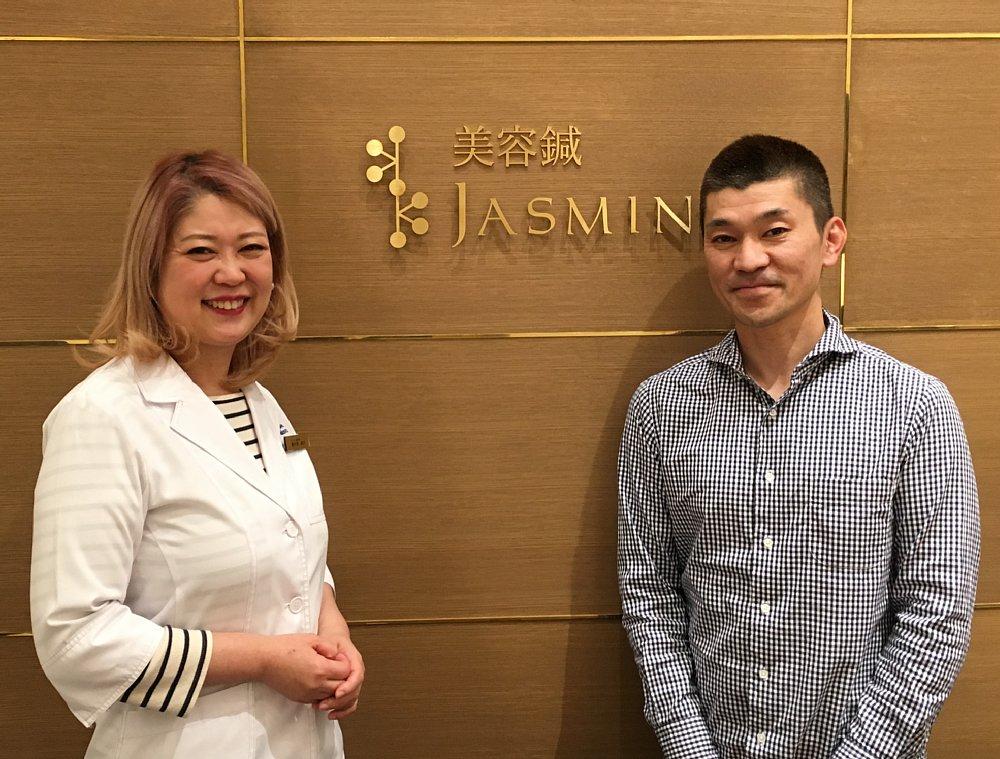 美容鍼jasmineオーナーと2ショット